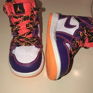 Baby Retro Jordan 1 Purple Crimson White Size 5c